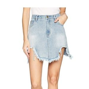 Minkpink rip tide denim mini skirt